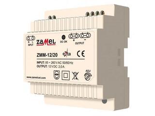 Zasilacz na szynę DIN impulsowy 12V DC 2A typ: ZMM-12/20 Zamel