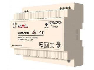 Zasilacz na szynę DIN impulsowy 24V DC 4,2A typ: ZMM-24/42 Zamel