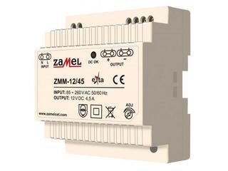 Zasilacz na szynę DIN impulsowy 24V DC 1,5A typ: ZMM-24/15 Zamel