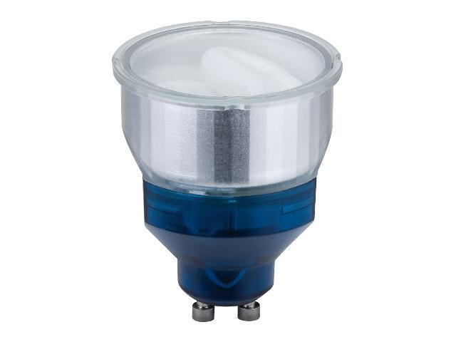 xŚwietlówka energooszczędna ESL Reflektor 7W GU10 zimne światło Short neck Paulmann