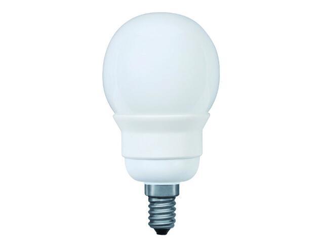 xŚwietlówka energooszczędna Miniglobe electronic, opal, E14, 5W Paulmann