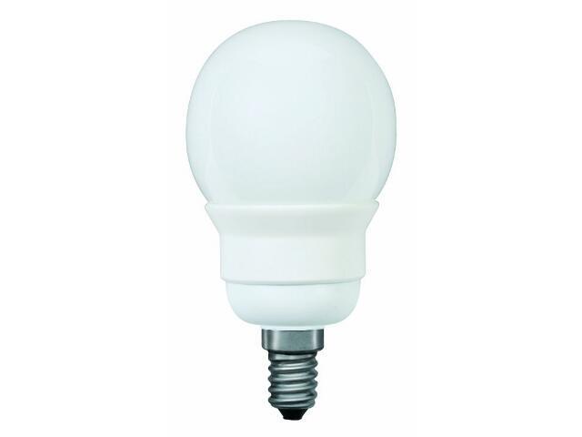 xŚwietlówka energooszczędna Miniglobe electronic, opal, E14, 7W Paulmann