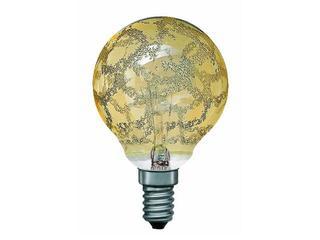 xŻarówka dekoracyjna Miniglobe, Krokoeis złota, E14, fi 60mm, 25W Paulmann