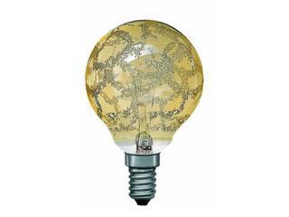 xŻarówka dekoracyjna Miniglobe, Krokoeis złota, E14, fi 60mm, 40W Paulmann