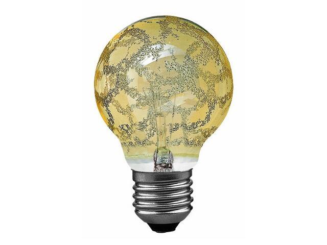 xŻarówka dekoracyjna Miniglobe, Krokoeis złota, E27, fi 60mm, 25W Paulmann