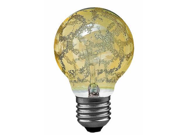 xŻarówka dekoracyjna Miniglobe, Krokoeis złota, E27, fi 60mm, 60W Paulmann