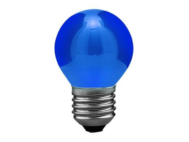 xŻarówka LED kulka 0,6W E27 niebieska Paulmann