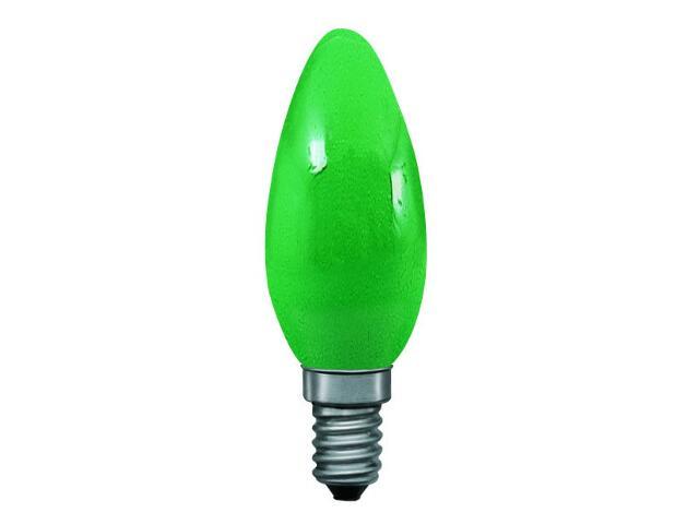 xŻarówka dekoracyjna świecowa, zielona, E14, fi 35mm, 25W Paulmann