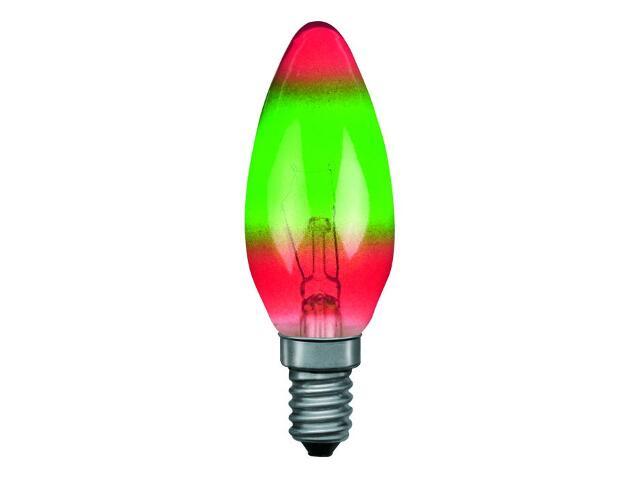 xŻarówka dekoracyjna świecowa czerwono/zielona 25W E15 Paulmann