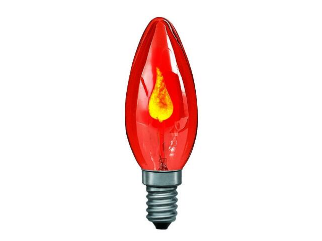 xŻarówka dekoracyjna Płomyk, czerwona, E14, fi 35mm, 3W Paulmann