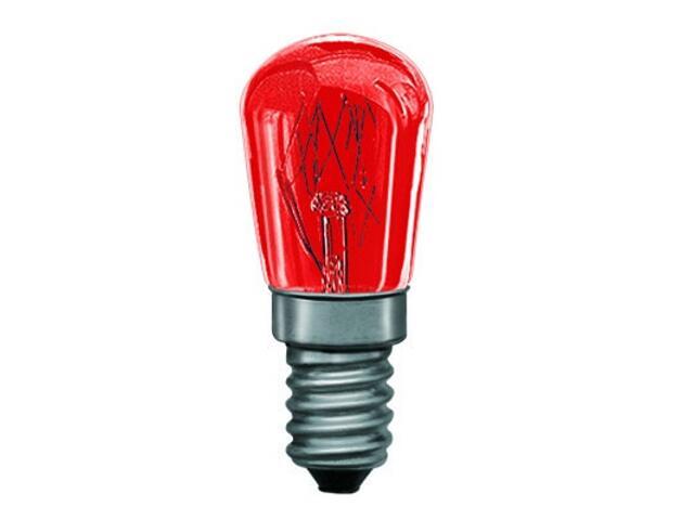 xŻarówka dekoracyjna gruszkowa, czerwona, E14, fi 25mm, 15W Paulmann