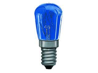 xŻarówka dekoracyjna gruszkowa, TV-niebieska, E14, fi 25mm, 15W Paulmann