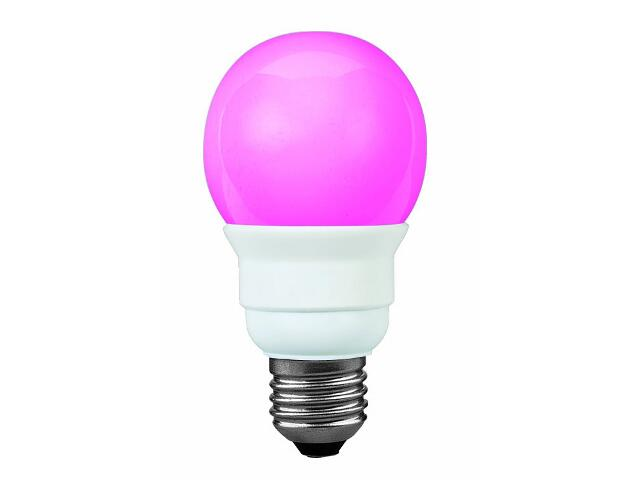 xŚwietlówka energooszczędna Color 5W E27 fi 60mm czerwona Paulmann