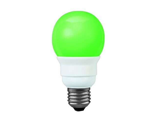 xŚwietlówka energooszczędna Color 5W E27 fi 60mm zielona Paulmann