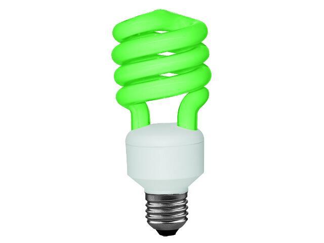 xŚwietlówka energooszczędna spirala 1-rurkowa 15W zielona E27 Paulmann