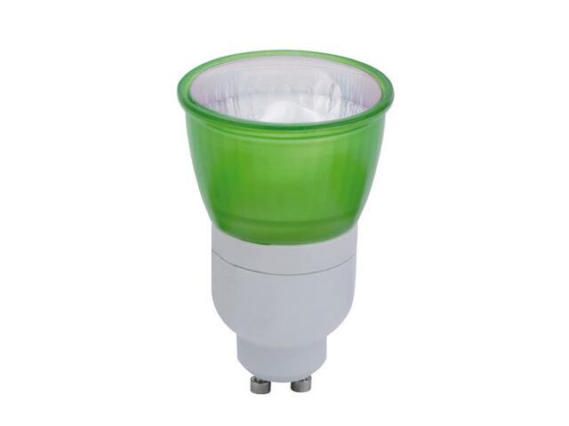 xŚwietlówka energooszczędna 7W GU10 zielona Paulmann
