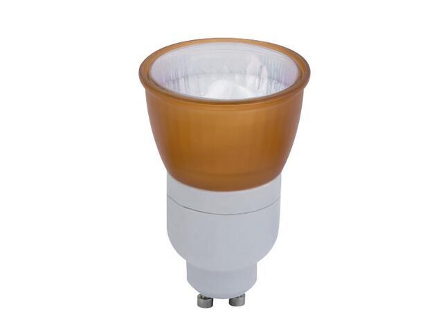xŚwietlówka energooszczędna 7W GU10 pomarańczowa Paulmann