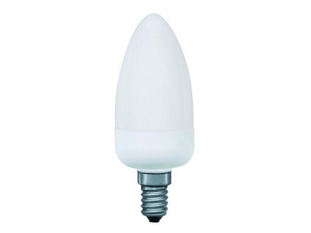 xŚwietlówka energooszczędna świecowa electronic E14 5W opal Paulmann