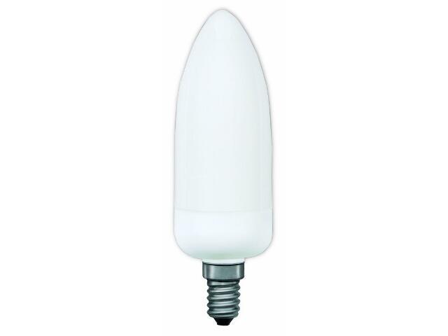 xŚwietlówka energooszczędna świecowa electronic E14 7W opal Paulmann