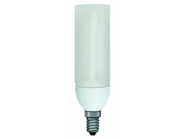 xŚwietlówka energooszczędna DecoPipe cylinder 9W E14/230V opal Paulmann