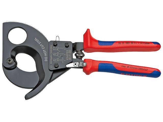 Nożyce do kabli z zapadką 280mm 95 31 280 Knipex