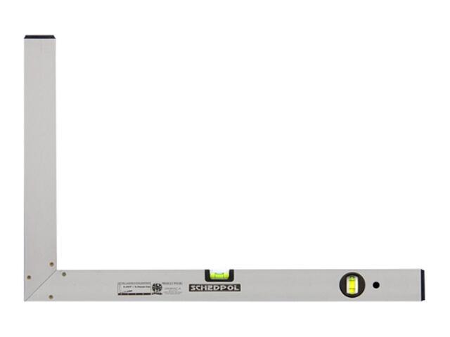 Kątownica budowlana 50x80cm anodowana ze wskaźnikami pion/poziom i bez stopki Sched-Pol