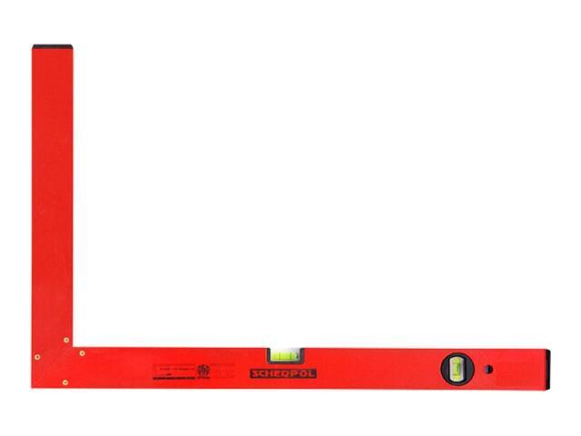Kątownica budowlana 50x80cm ze wskaźnikami pion/poziom bez stopki Sched-Pol