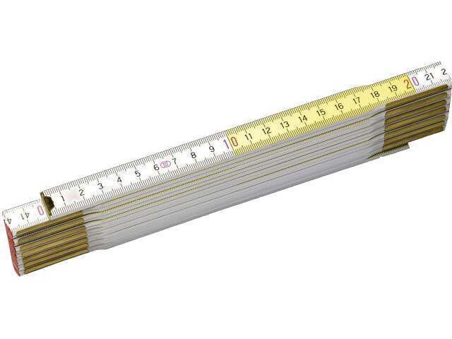Miara składana drewniana 2m biało/żółta 0-35-458 Stanley