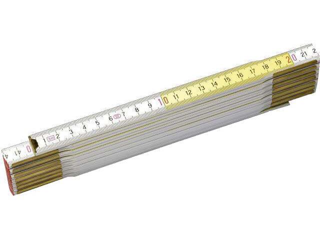 Miara składana drewniana 3m biało/żółta 0-35-459 Stanley