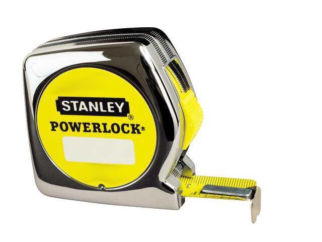Miara zwijana stalowa PowerLock 3m/10ft x 12,7mm obudowa chromowana 0-33-203 Stanley