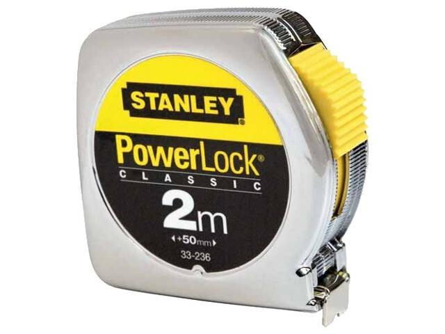 Miara zwijana miara stalowa powerlock 2m x 12,7mm obudowa metalowa 0-33-236 Stanley