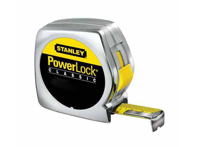 Miara zwijana miara stalowa powerlock 3m x 12,7mm obudowa chromowana 0-33-238 Stanley