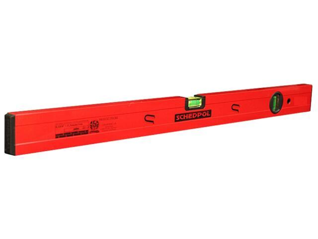 Poziomnica czerwona z magnesem ze wskaźnikiem pion/poziom 60cm Sched-Pol