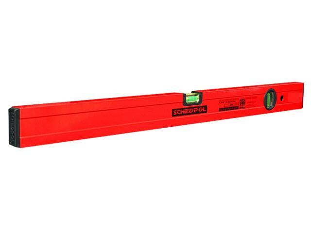 Poziomnica czerwona ze wskaźnikiem pion/poziom 60cm Sched-Pol