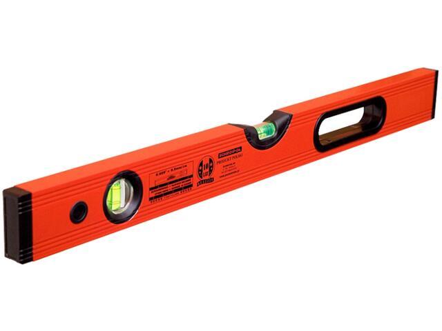 Poziomnica czerwona PROFESSIONAL ze wskaźnikiem pion/poziom i uchwytem 60cm Sched-Pol