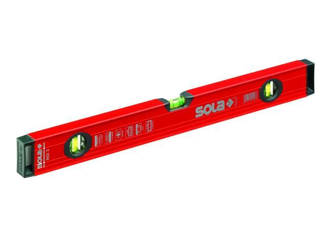 Poziomnica aluminiowa RED3 120cm 01215401 SOLA