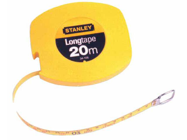 Taśma miernicza stalowa długa 20m x 9,5mm (obudowa zamknięta) II kl.dokł.0-34-105 Stanley