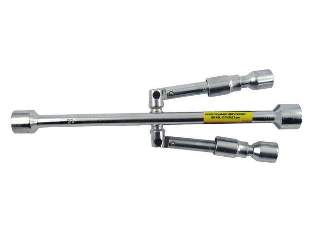 Klucz do kół krzyżak składany 17x19x21x23mm CarCommerce