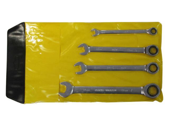 Zestaw kluczy płasko-oczkowy z grzechotką 10-17mm 4szt. 1602-02 MJW