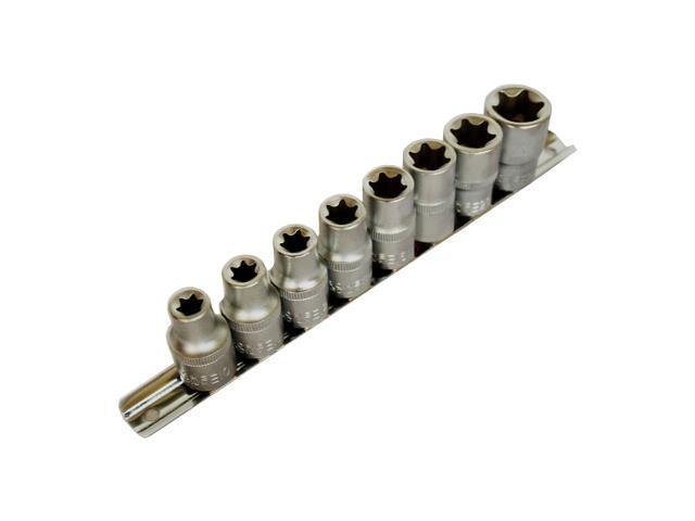 """Zestaw kluczy nasadowych 1/2"""" typu E 10-24mm 8szt. 51003 MJW"""