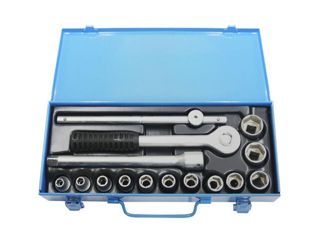 """Zestaw kluczy nasadowych dwunastokątnych 1/2"""" 15szt. 8-24mm 50021 MJW"""
