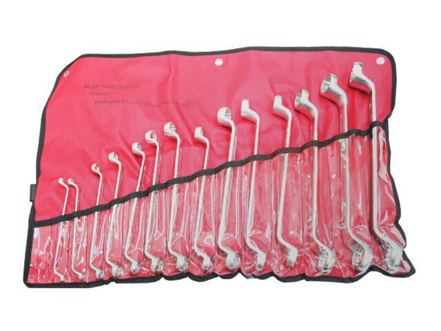 Zestaw kluczy oczkowych odgiętych 6-32mm 14szt. 1604-02 MJW