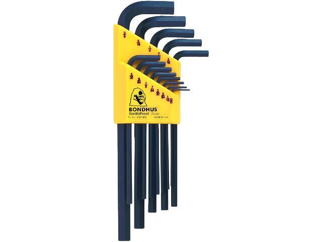 Zestaw kluczy sześciokątnych długich calowych 13szt. 12137 BONDHUS