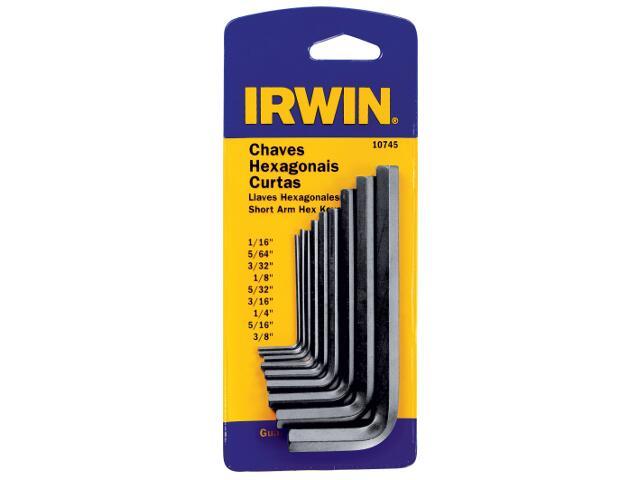 Zestaw kluczy sześciokątnych metrycznych krótkich 9 końcówek Irwin