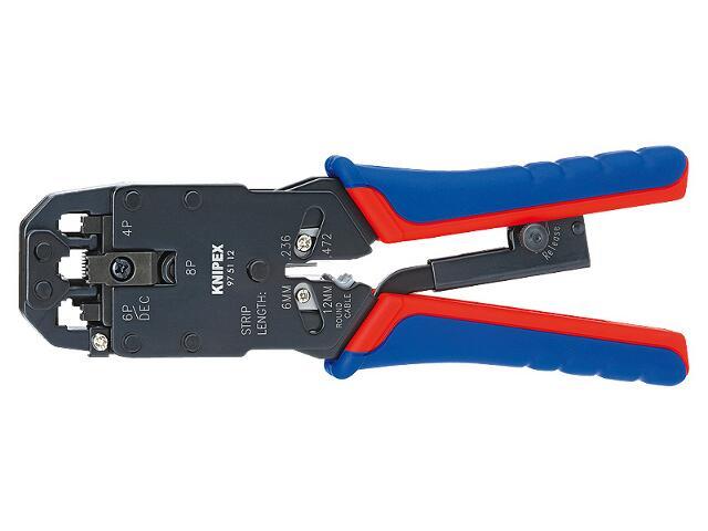 Szczypce zagniatające do wtyków telefonicznych typu Western Plugs 200mm 97 51 12 Knipex