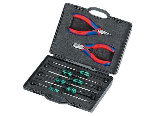 Zestaw szczypców dla elektroników 2szt. + 6 szt. wkrętaków Micro 00 20 18 Knipex