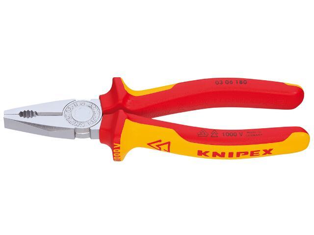 Szczypce uniwersalne VDE 180mm 1000V 03 06 180 Knipex