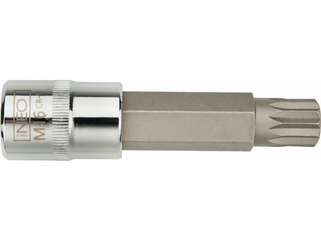 """Końcówka wkrętakowa Spline na nasadce 1/2"""" M12x55mm 08-734 Neo"""