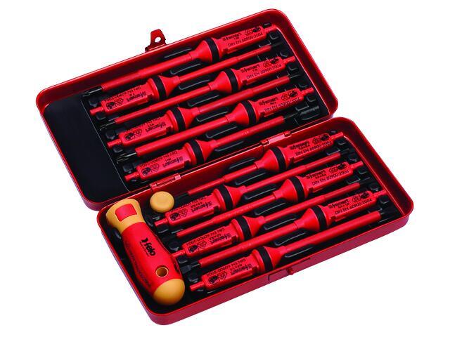Zestaw wkrętaków E-SMART 12 kling izolowanych w metalowym pudełku 06391306 Felo