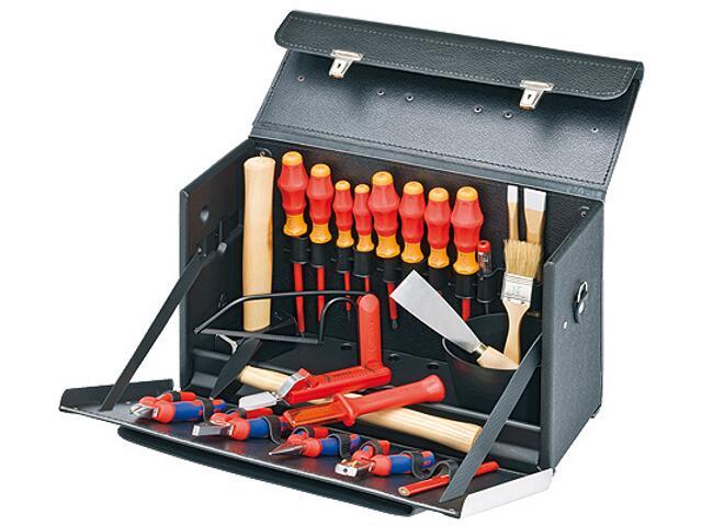 Torba narzędziowa z wyposażeniem dla początkującego elektryka 24 części 00 21 02 SL Knipex